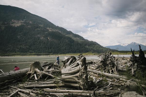 Lilloet lake, The Ucwalmicw reserve, British Columbia, Canada